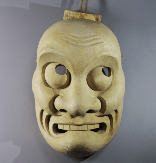 Hand Craved Yaseotoko Hand Craved Yaseotoko Wooden Mask Mask