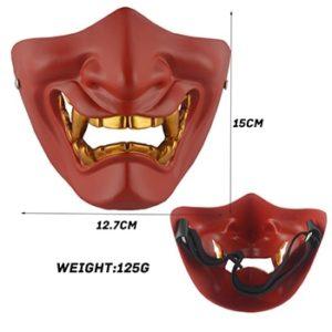 Half face red