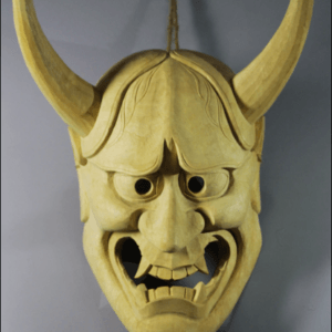 Hannya Wooden Mask