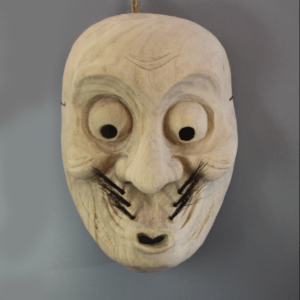 Kumosaku wall hanging wooden mask