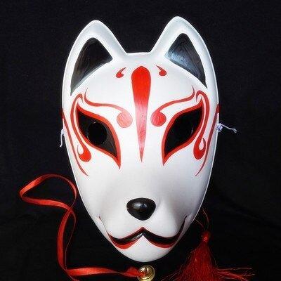 kabuki-masks-hand-painted-kitsune-mask-3