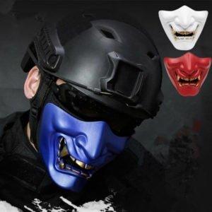 half face oni mask