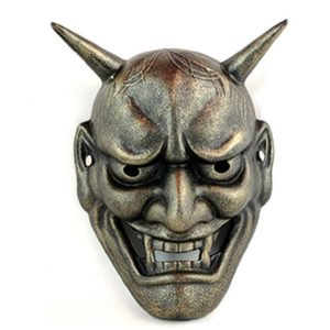 japanese demon silver color mask