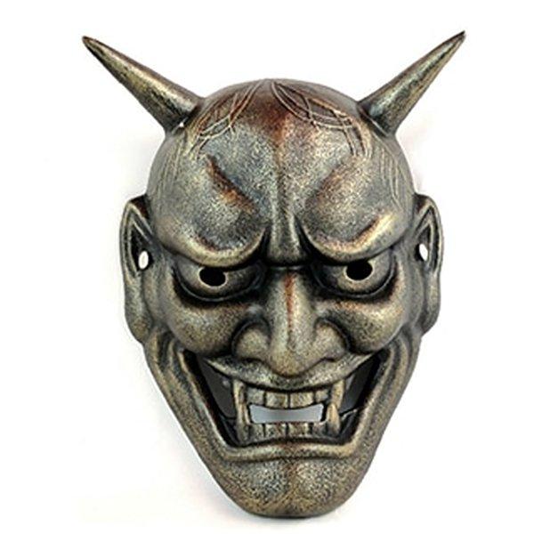 japanese demon silver color mask