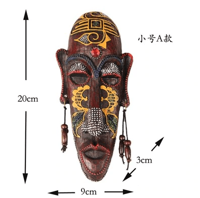 African Mask Resin Wall Carving Art