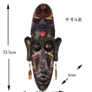 African Mask Wooden Craved Wall Decoration