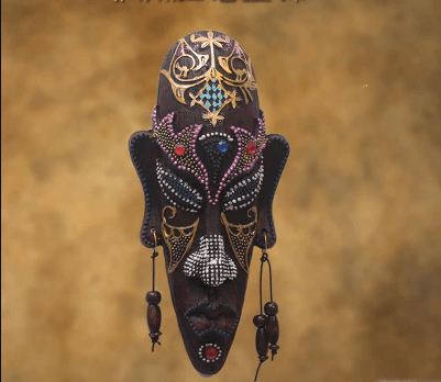 African Retro mask wall hangging