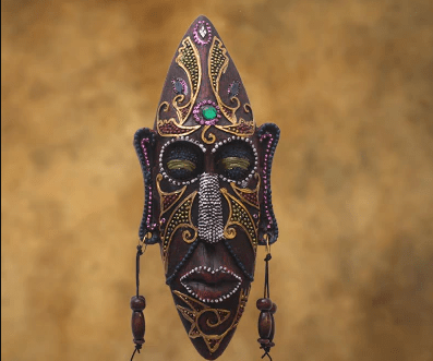 Anciant african mask wall dcoration