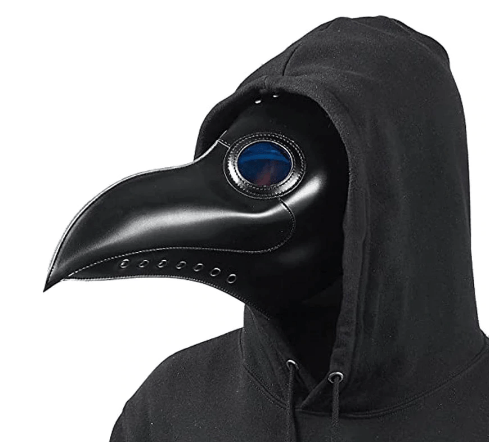 Black Plague Doctor Mask