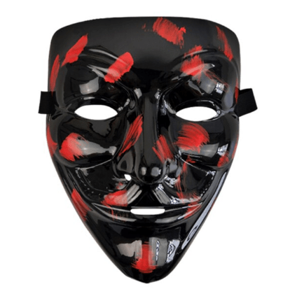 Black-Red Guy Fawkes Mask
