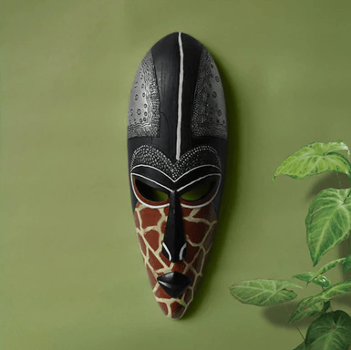 Black textured African Mask wall decoration