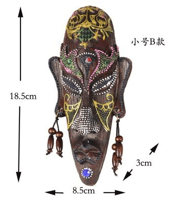 Craved African Mask Wall Decoration