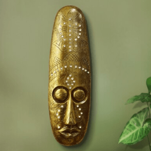 Gold Colour African Anciant mask wall decoration