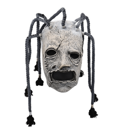 Halloween Slipknot Mask with long hair