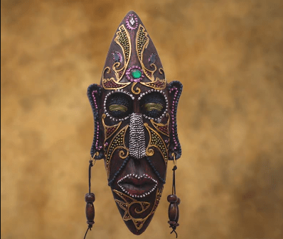 Resin African Mask Wall ecoration