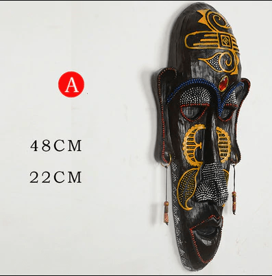 Resin african mask wall hanging decoration