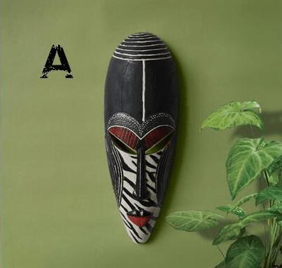 Retro Resin Exotic African Mask Portrait