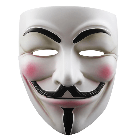White Guy Fawkes Mask
