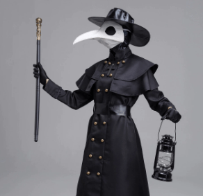White long Nose Plague Doctor Mask