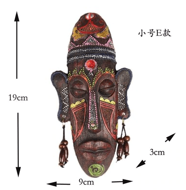 Wood Carving African Mask Wall Decoration