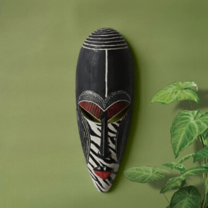 black creative design african mask wall decoration