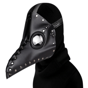 black long nose plague mask
