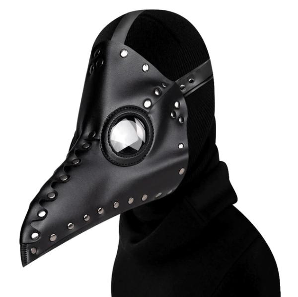 black long nose plague mask