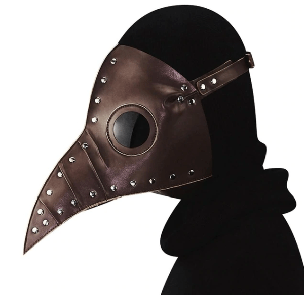 brwon plague doctor mask