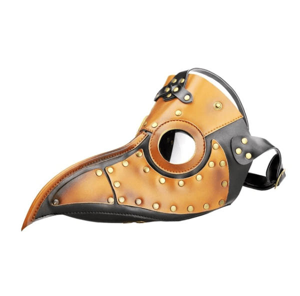 light brown short nose plague mask